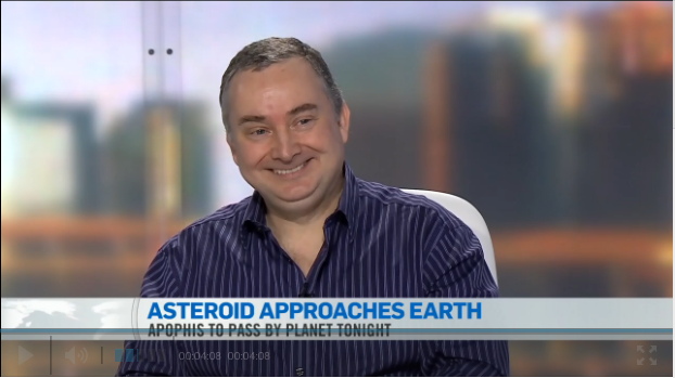 Colin Haig talks up asteriod Apophis with CTV on January 9, 2013