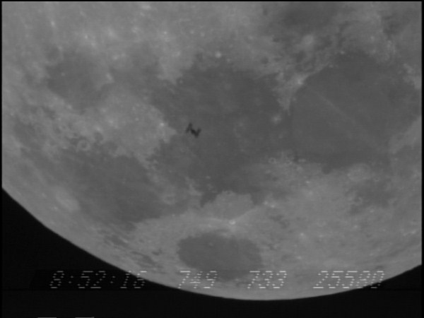 Transit of ISS in front of the Moon