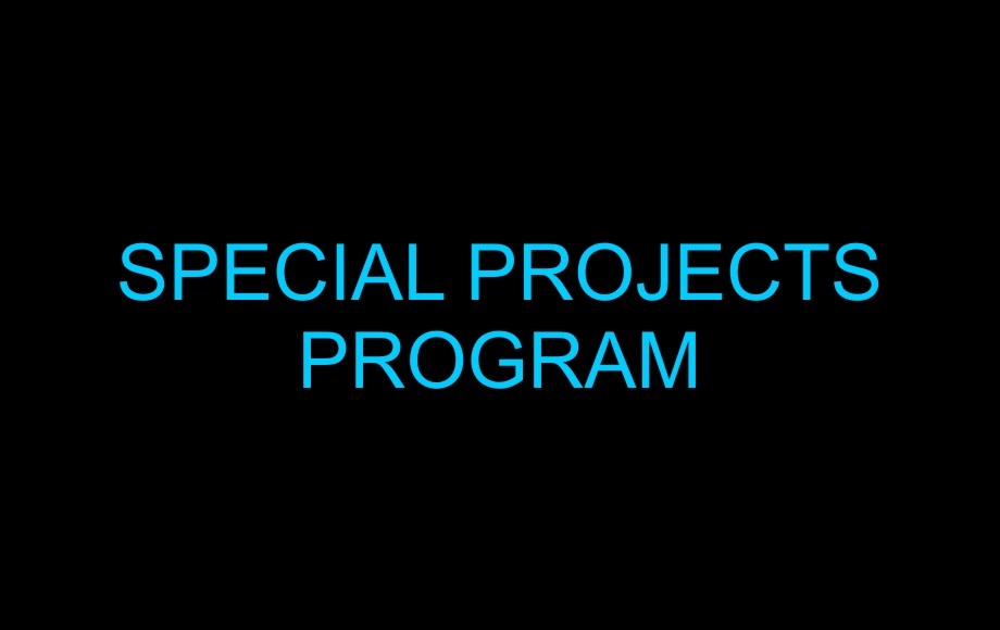 Special Projects Program