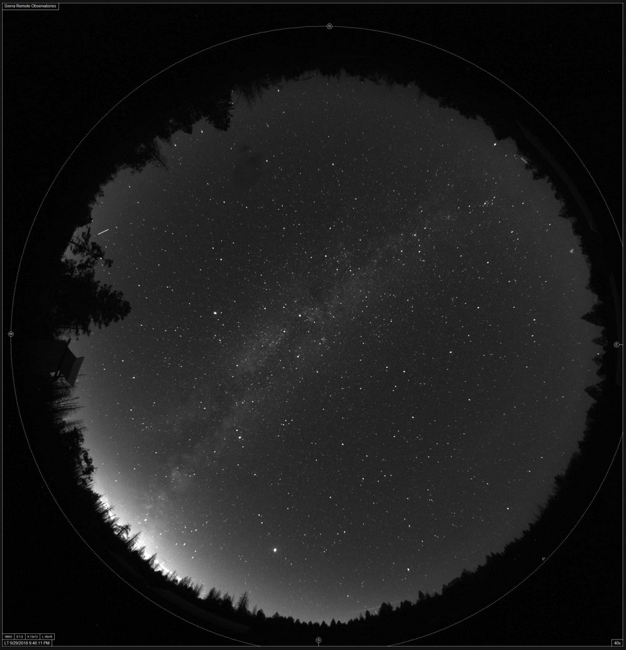 all-sky image of sky and milky way