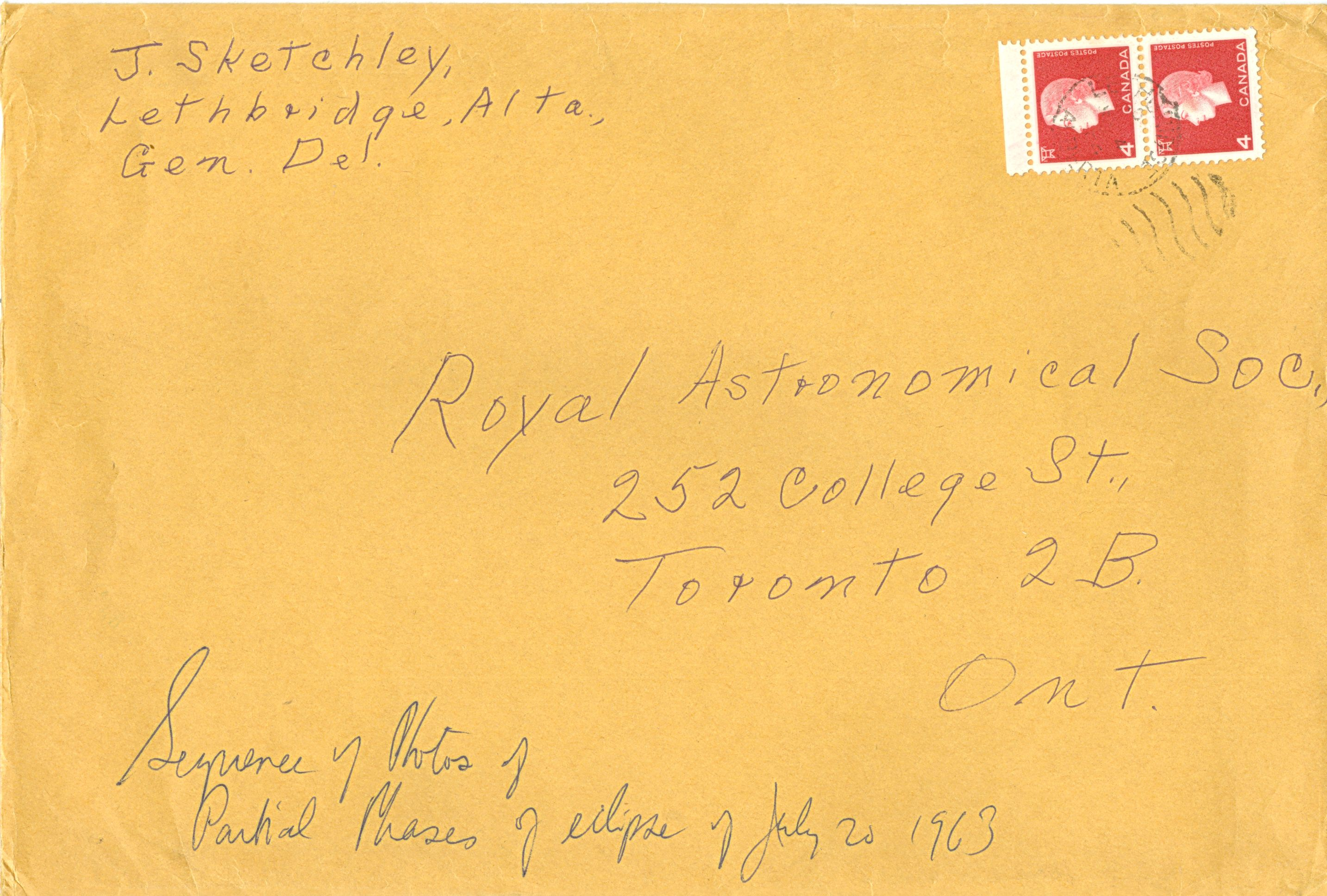 Sketchley Envelope (1)