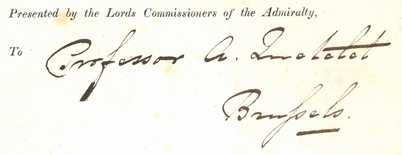 Adolphe Quetelet Autograph