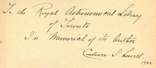 Constance Lowell Autograph