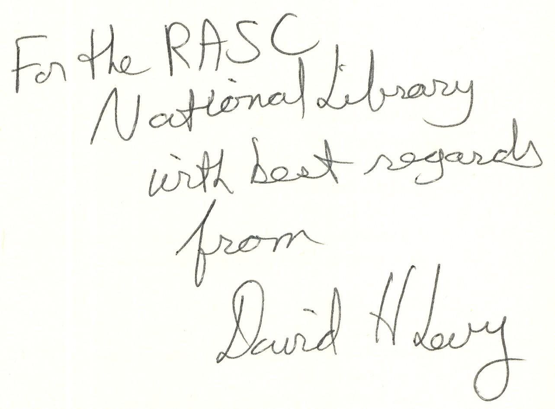 David Levy Autograph