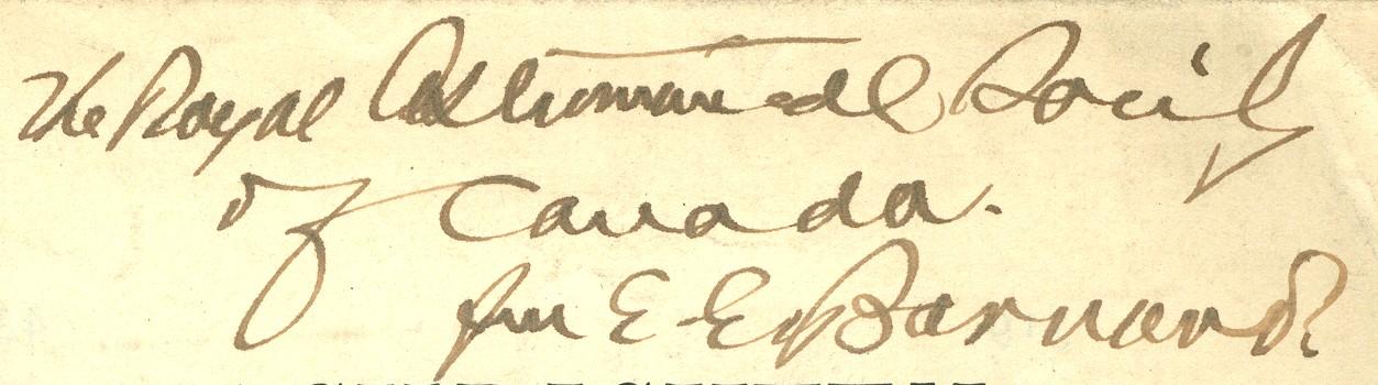E.E. Barnard Autograph