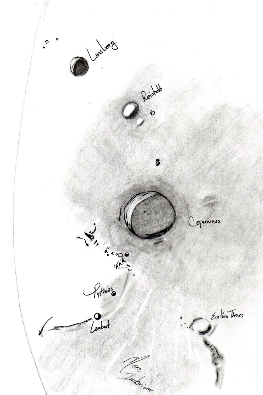 Sketch of Mare Imbrium and Copernicus