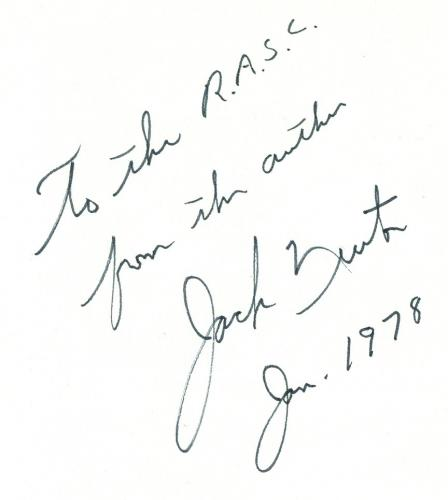 Jack Newton Autograph
