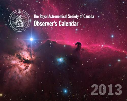 Observer's Calendar 2013 - Front