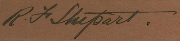 R.F. Stupart Autograph