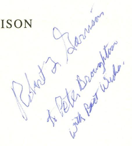 Robert Garrison Autograph