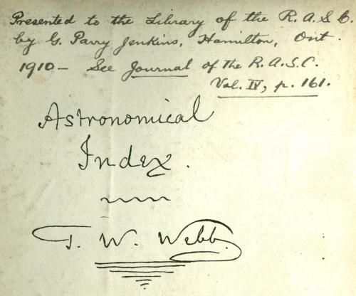 T.W. Webb Autograph