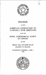 RASC-AAVSO Joint Dinner 1 June 1940