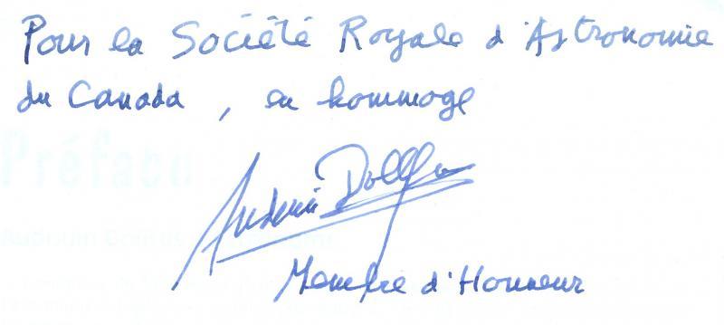 Audouin Dollfus Autograph