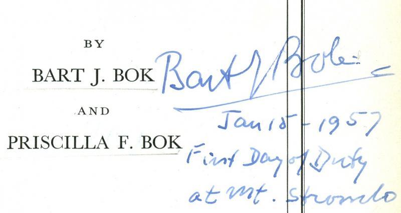 Bart Bok Autograph