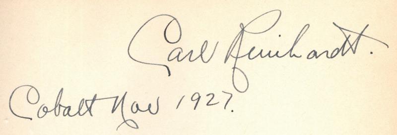 Carl Reinhardt Autograph