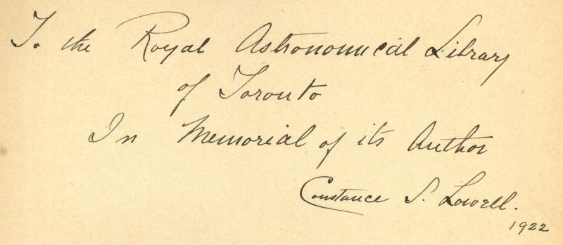 Constance Lowell Autograph