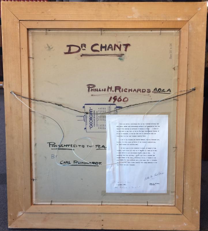 Back of C.A. Chant Portrait
