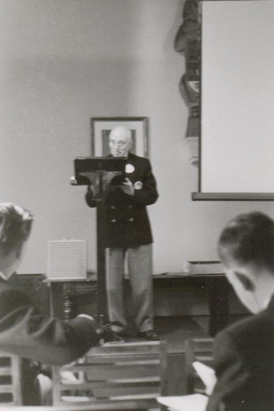 Frank DeKinder at the 1959 AGM