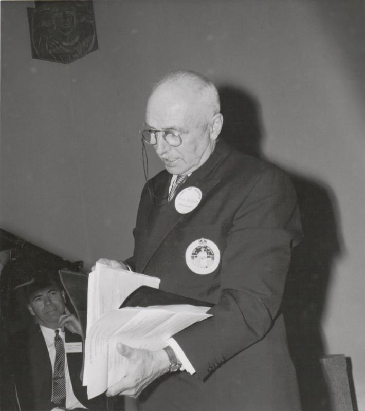 Frank DeKinder at the 1959 AGM