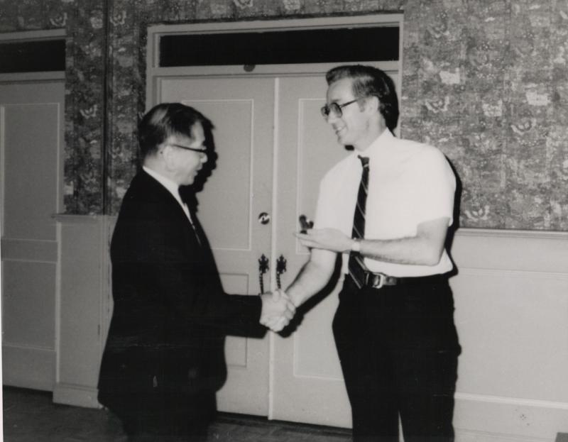 Service Award Presentation at 1984 GA