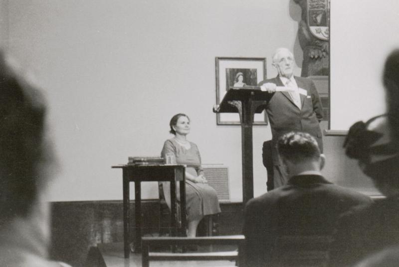 H.S. Hogg and E.J.A. Kennedy at 1959 AGM
