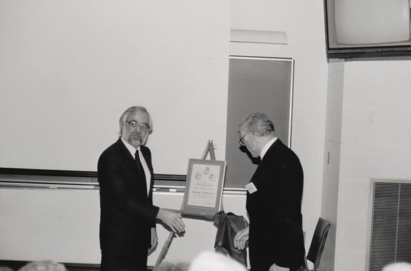 Dickinson receiving Fleming Medal