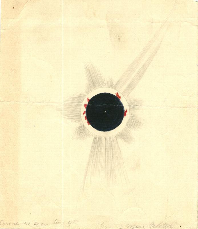Solar Corona, 1896 August 9