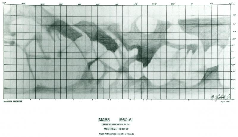 Mars Map 1960-61
